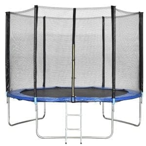 Giantex Trampoline Combo Bounce Jump Safety Enclosure Net W:Spring Pad Ladder