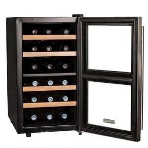 Koldfront 18 Bottle Free Standing Dual Zone Wine Cooler