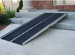 The 96″ Portable Folding Aluminum Wheelchair & Scooter Ramp