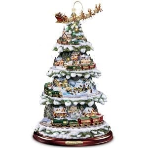 Thomas Kinkade Wonderland Express Animated Tabletop Christmas Tree