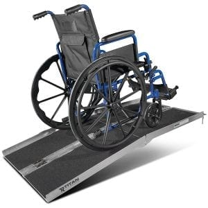 Five-Foot Aluminum Multifold Wheelchair Scooter Mobility Ramp