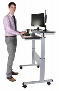 Crank Adjustable Sit to Stand Up Desk