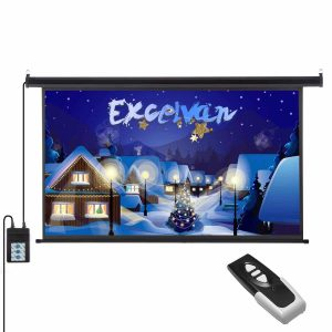 Excelvan 100 Inch 16-9 1.2 Gain Wall Ceiling Electric Motorized HD Projector Screen