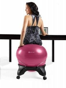 Gaiam Backless Balance Ball Chair - 52cm Stability Ball Home & Office Desk Chair