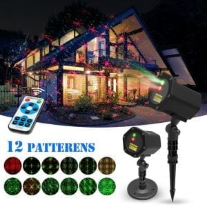 Laser Christmas Lights, Outdoor and Indoor use with 12 Patterns