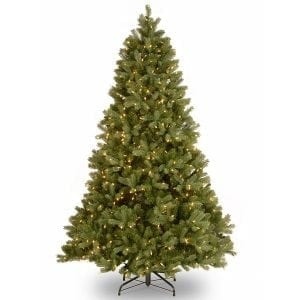 National Tree 6.5 Foot Feel-Real Artificial Fir Tree with 650 Clear Lights