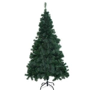 Goplus 6' Artificial Christmas Tree Spruce Hinged w: Metal Stand for Indoor and Outdoor