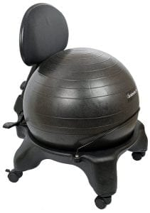 Isokinetics Inc. Adjustable Back Exercise Ball Office Chair