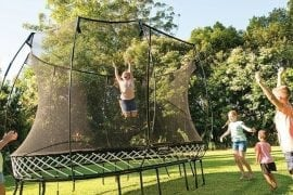 Best trampolines with enclosure