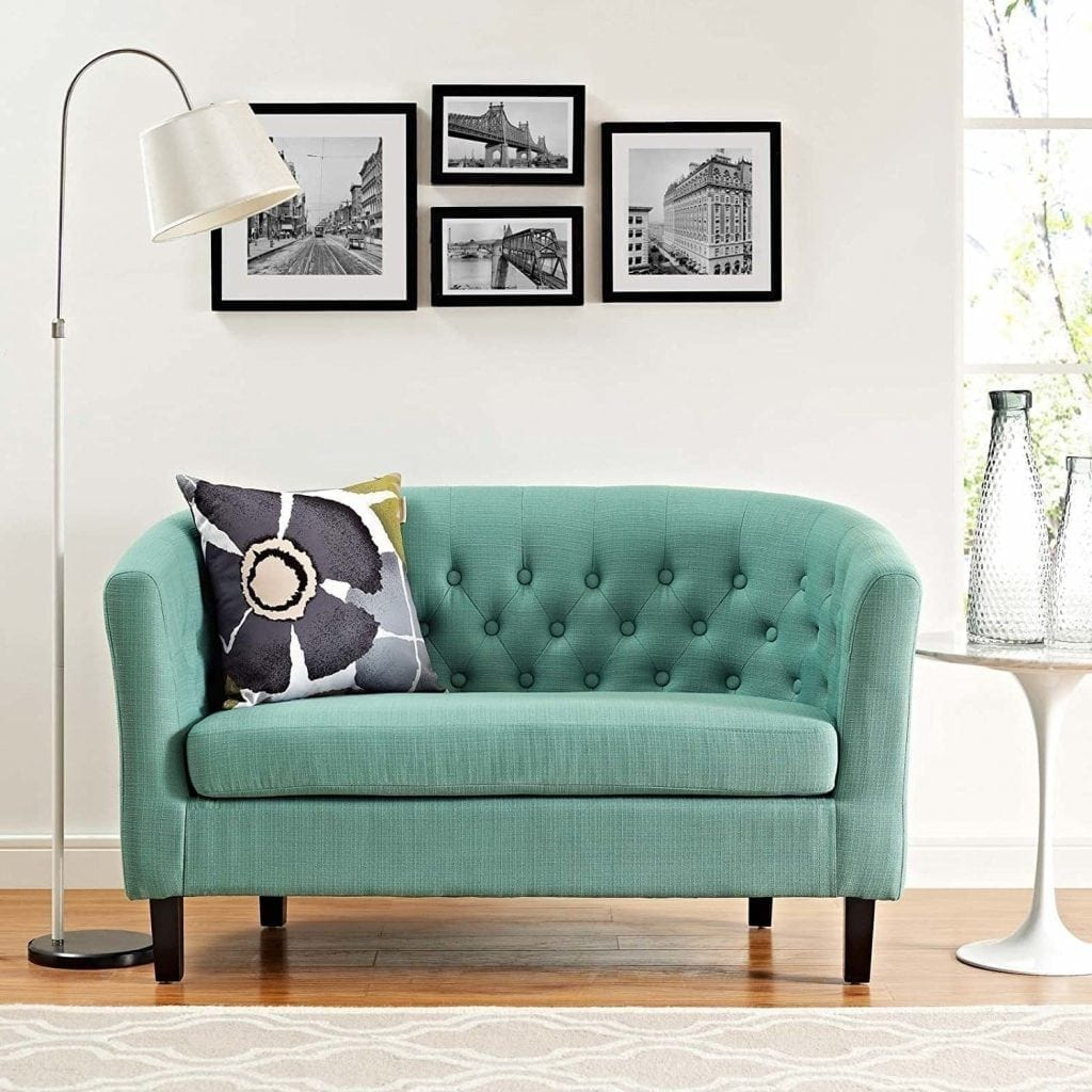 Modway Prospect Upholstered Contemporary Modern Loveseat