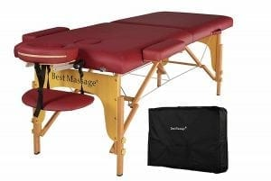 BestMassage PU Portable Massage Table