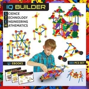 IQ BUILDER Fun Educational Building Toy Set