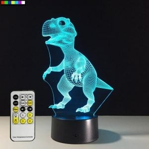 Night Light Dinosaur 7 Colors Change with Remote Control