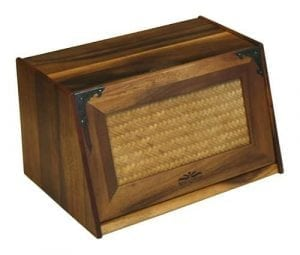 Mountain Woods Extra Large Acacia Wood Antique Style Bread Box