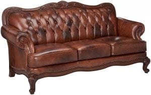 Coaster Home Furnishings - Victoria Traditional Rolled Arm Tufted Stationary Three Seater Sofa
