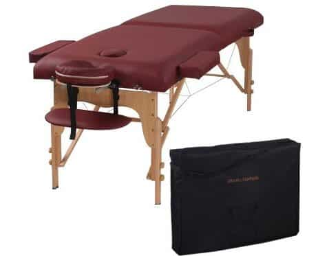 Heaven Massage Two Fold Burgundy Portable Massage Table
