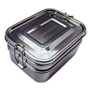 Brandenburg Classic Stainless Steel Bento Box, Eco-Friendly Lunch Box