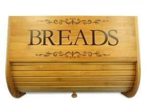 Cookbook People Classic Filigree Wood Bread Bin