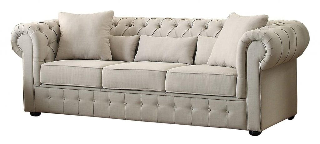 Homelegance 8427-3 Grand Chesterfield Sofa