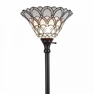 Amora Lighting Tiffany-style Floor Torchiere Lamp