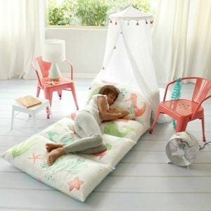 Kid's Floor Pillow Bed Cover Portable Toddler Bed