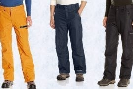 Best snowboard pants for men