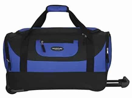 Travelers Club Luggage Adventure 20 Inch Multi-Pocket Sports Rolling Duffel