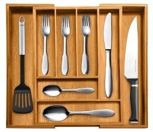 Top Rated Bellemain 100% Pure Bamboo Expandable, Utensil - Cutlery and Utility Drawer Organizer
