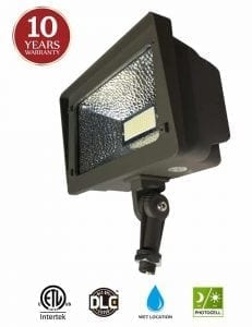 LED Flood Light, Dusk-to-Dawn Photocell by Kadision