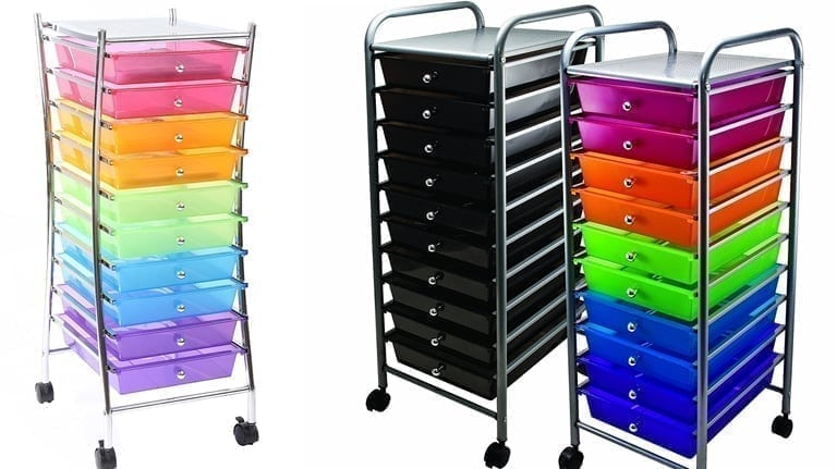 10 drawer rolling carts