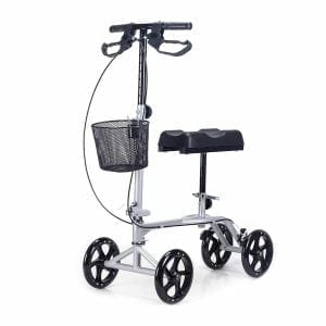 CO-Z Steerable Foldable Knee Scooter with Basket, Antiskid Rubber Wheels -1