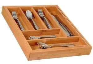 Home-it Expandable Cutlery Drawer Organizer, utensil organizer