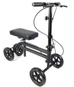 Knee Rover Economy Knee Scooter Steerable Knee Walker Crutch Alternative with Dual Braking System
