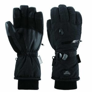Men Waterproof Thinsulate Ski Snowboard Gloves Winter Warm Gloves Black