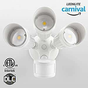 30W 3-Head Motion Activated LED Outdoor Security Light