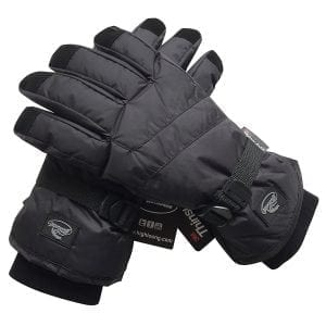 Black Men Waterproof Thinsulate Winter Cold Weather Ski Snowboard Gloves