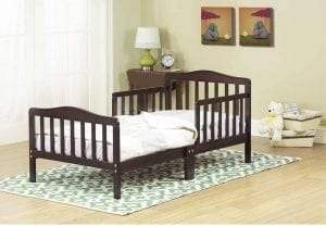 The Orbelle 3-6T Toddler Bed, Espresso
