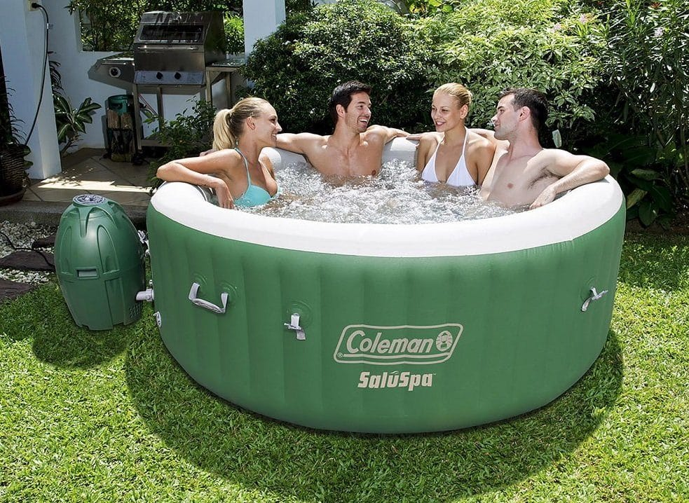 The Coleman SaluSpa 6 person Inflatable Outdoor Spa, Jacuzzi Bubble Massage Hot Tub