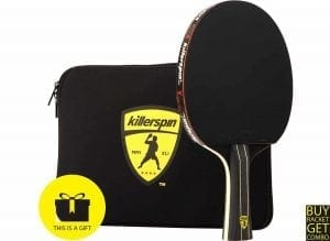 Killerspin JetBlack Combo- Table Tennis Paddle Engineered for Ultimate Control and Precision