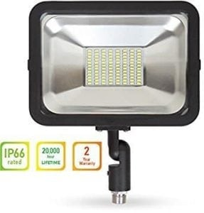 LLT LED COMPACT Floodlight with Arm SMD Outdoor Landscape Security Waterproof 50W 5000K