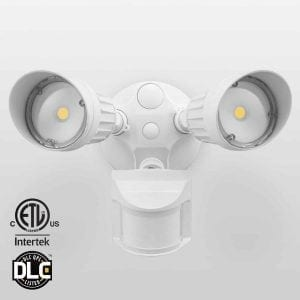 Top 10 best outdoor motion sensor lights in 2018 buyers guide leonlite 20w dual head motion sensor outdoor light mozeypictures Image collections