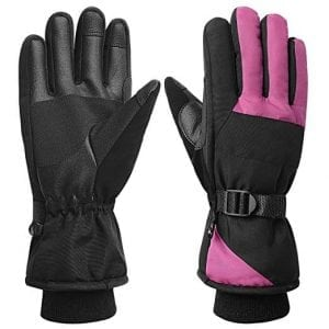 REDESS Women Waterproof Windproof Ski Gloves