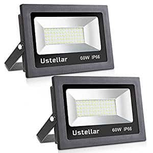 Ustellar 2 Pack 60W LED Flood Light