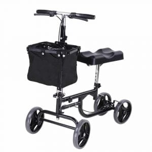 AW Adjustable Knee Scooter Walker w: Basket Steerable Rolling Wheel