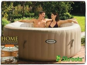 Hot Tub Spa Intex 4 Person Portable Inflatable Hot Tub