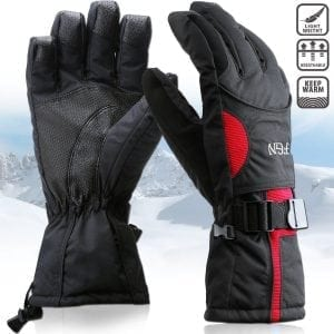 Padida Waterproof Mens Ski Gloves