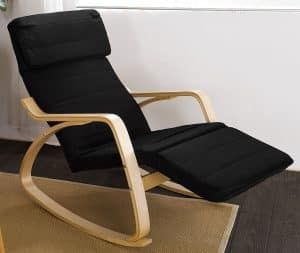Haotian Comfortable Relax Rocking Chair with Foot Rest Design