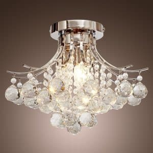 LOCOÂ Chrome Finish Crystal Chandelier with 3 lights