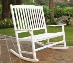 Outdoor Seats 2 Porch Double Rocker Rocking Chair