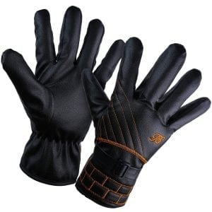 YQXCC Winter Men's Leather Gloves Touch Screen